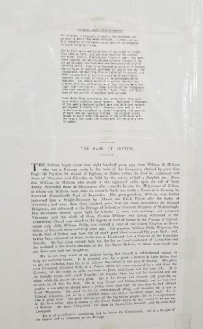 4 19thC Orig Lithos Vanity Fair - Men of the Day - 9