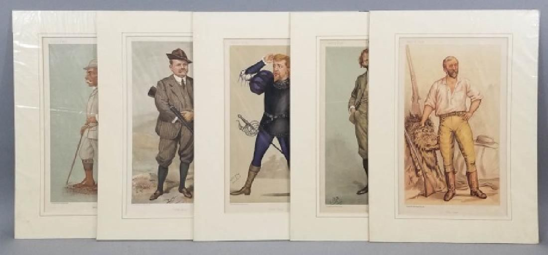 5 19thC Orig Lithos Vanity Fair - Men of the Day