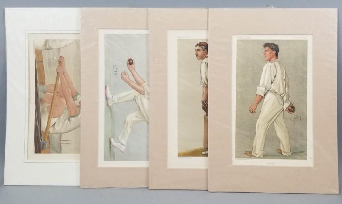 4 19thC Original Lithographs Vanity Fair - Sport