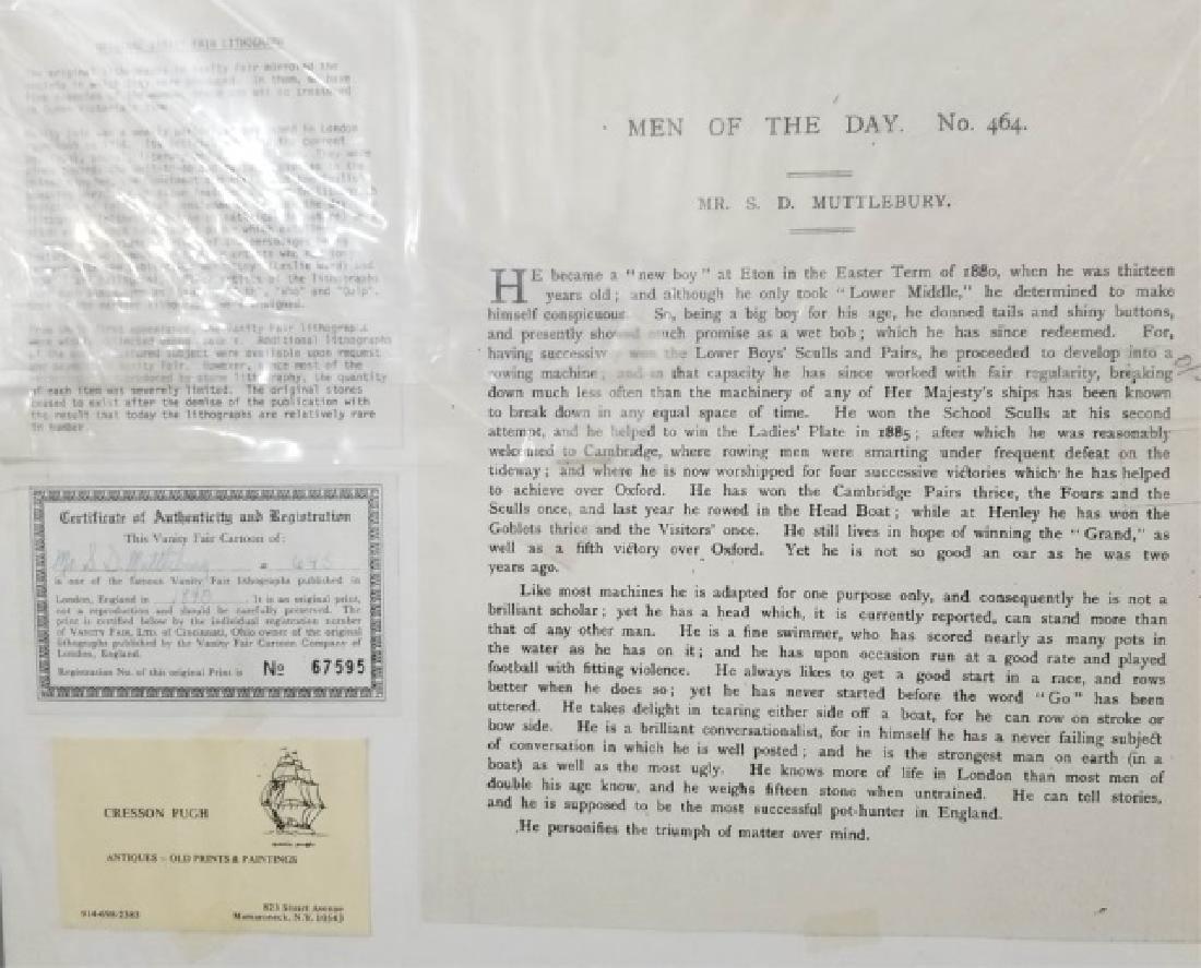 4 19thC Original Lithographs Vanity Fair - Sport - 6