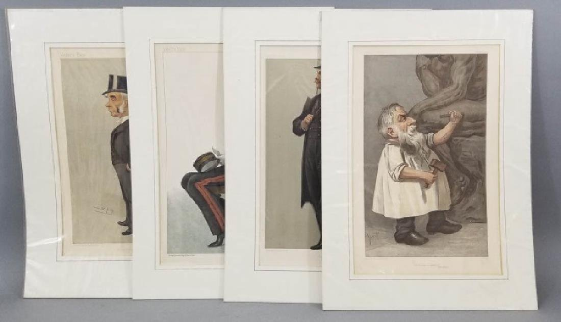 4 19thC Orig Lithos Vanity Fair - Men of the Day