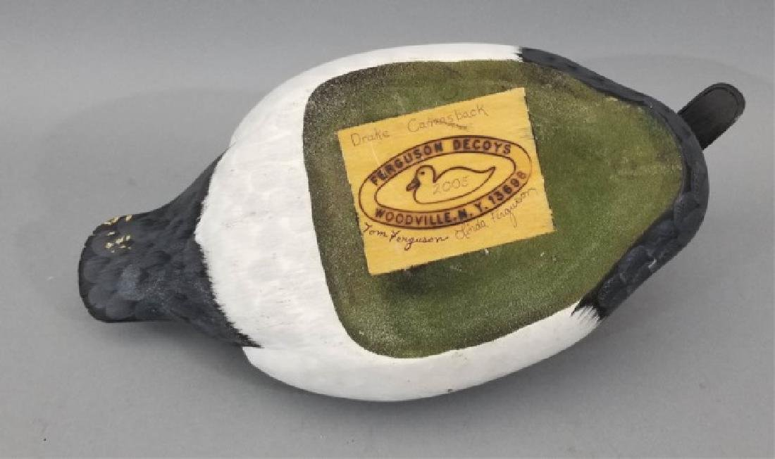 Handmade & Hand Painted Ferguson Duck Decoy - 9