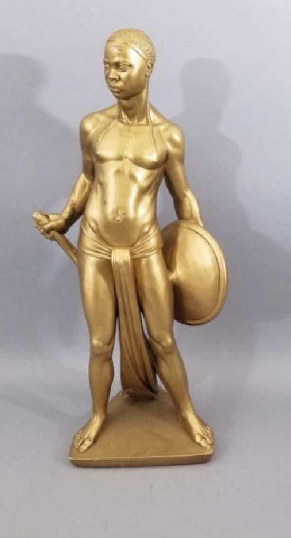 Hollywood Regency Blackamoor Style Large Statue