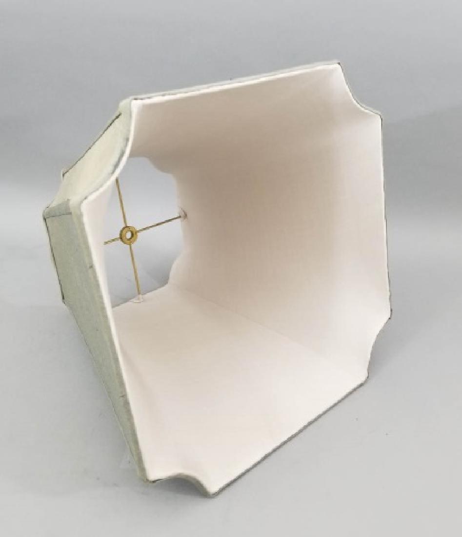 Pair Contemporary Raw Silk Designer Lamp Shades - 2