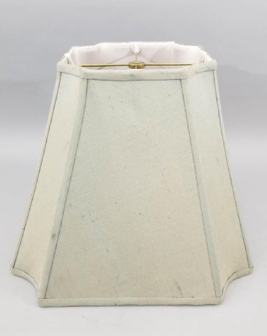 Pair Contemporary Raw Silk Designer Lamp Shades - 3