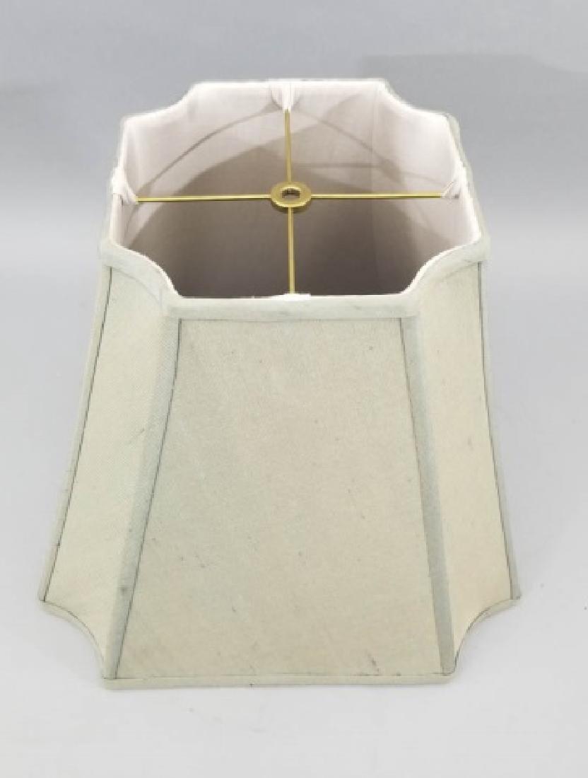 Pair Contemporary Raw Silk Designer Lamp Shades - 4