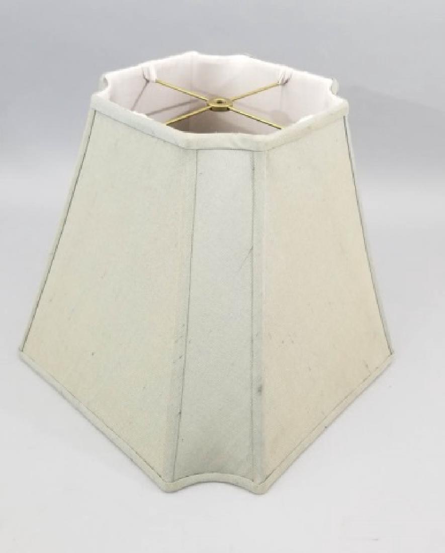 Pair Contemporary Raw Silk Designer Lamp Shades - 5
