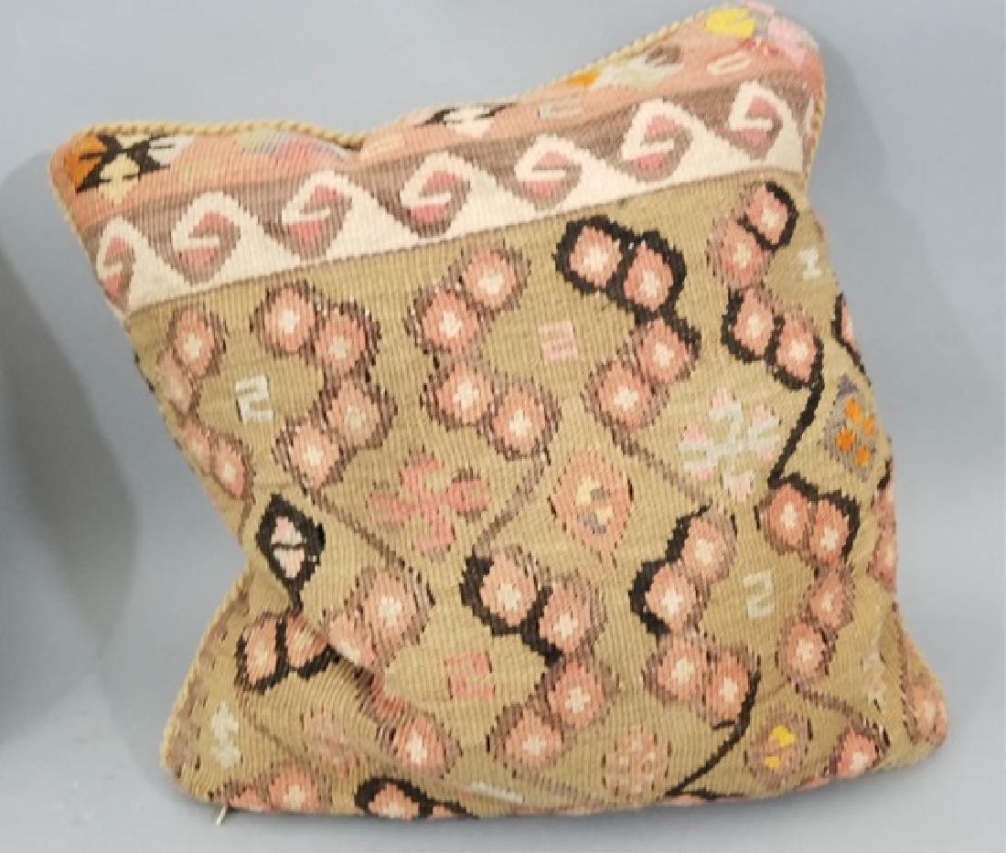 Pair Custom Made Oriental Carpet Tapestry Pillows - 3