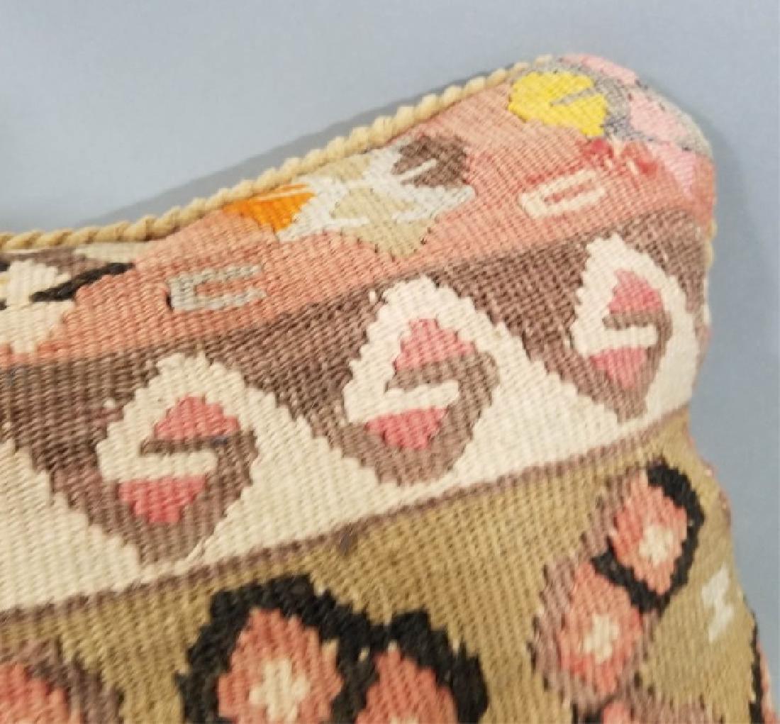 Pair Custom Made Oriental Carpet Tapestry Pillows - 4