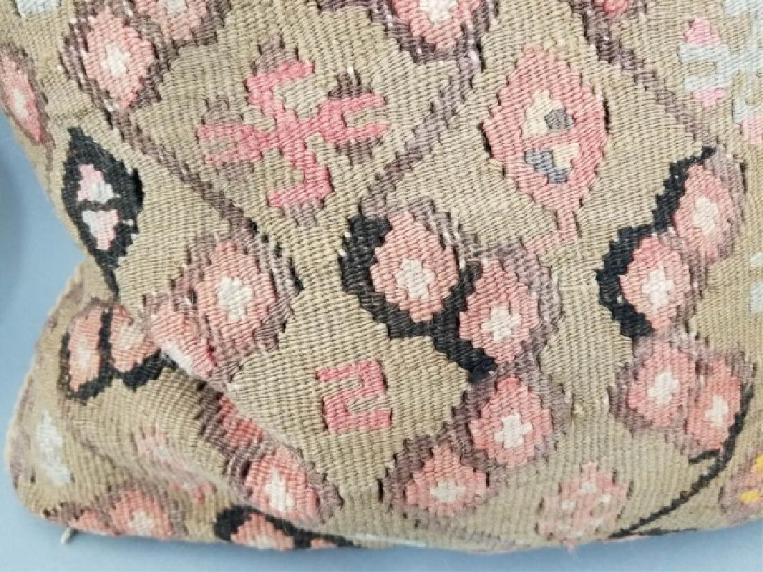 Pair Custom Made Oriental Carpet Tapestry Pillows - 5
