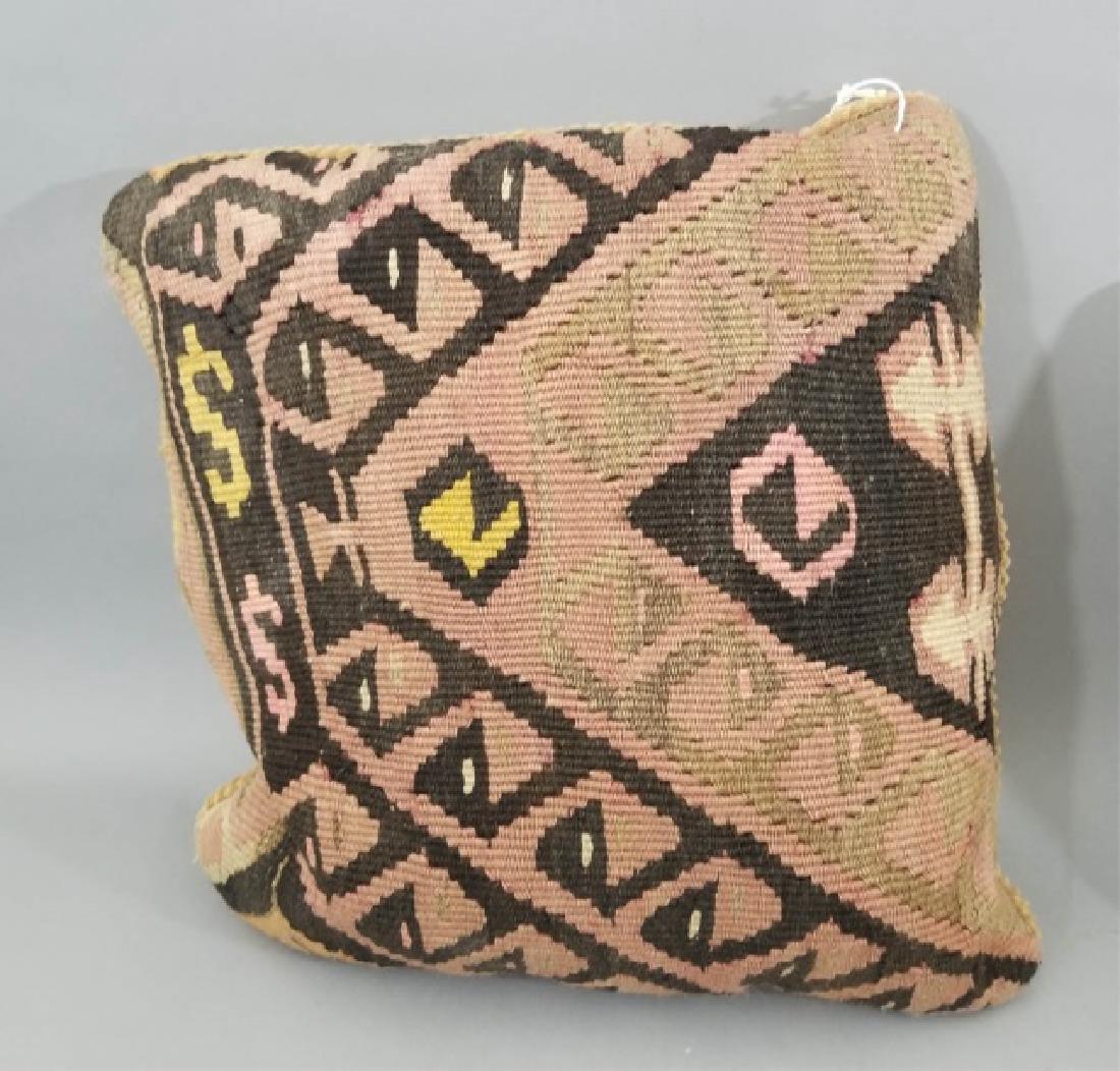 Pair Custom Made Oriental Carpet Tapestry Pillows - 6