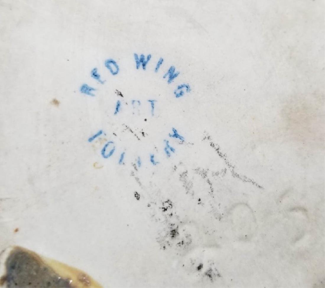 Vintage Red Wing & Fulper Art Pottery Vase & Bowl - 2