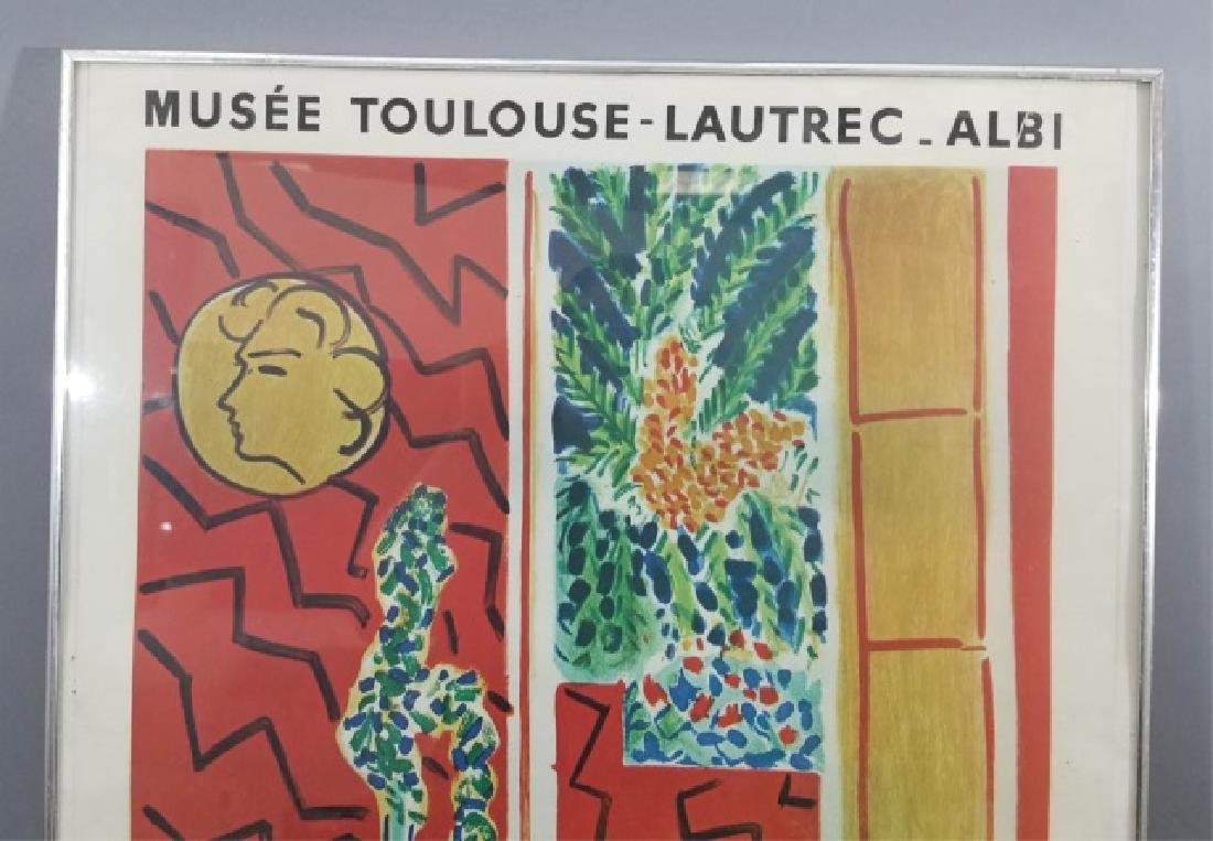 Framed Musee Toulouse Lautrec Poster C. 1961 - 6