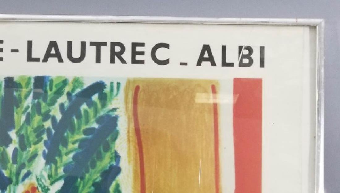 Framed Musee Toulouse Lautrec Poster C. 1961 - 8