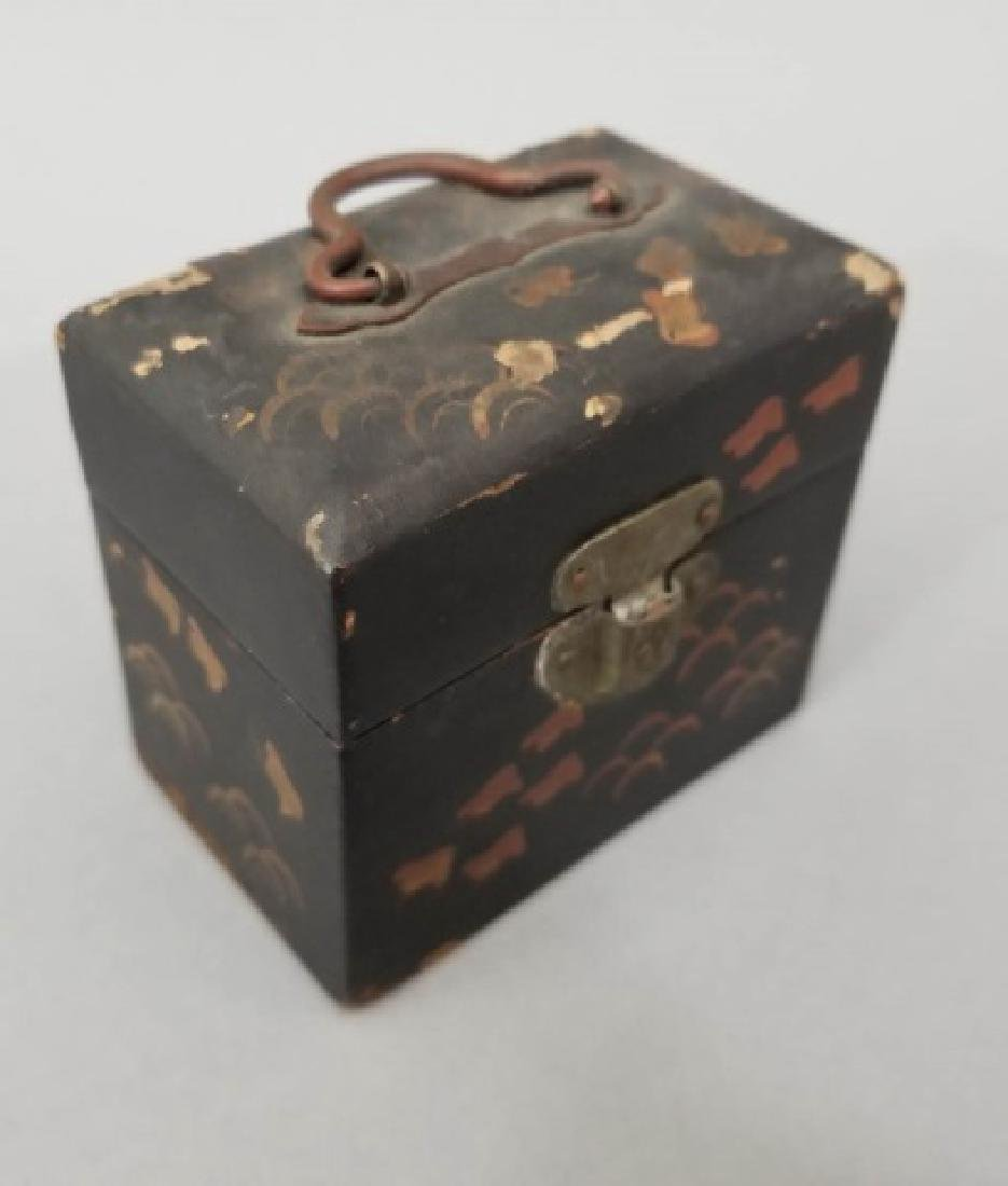 Antique Japanese Box & Middle Eastern Lantern Lamp - 8