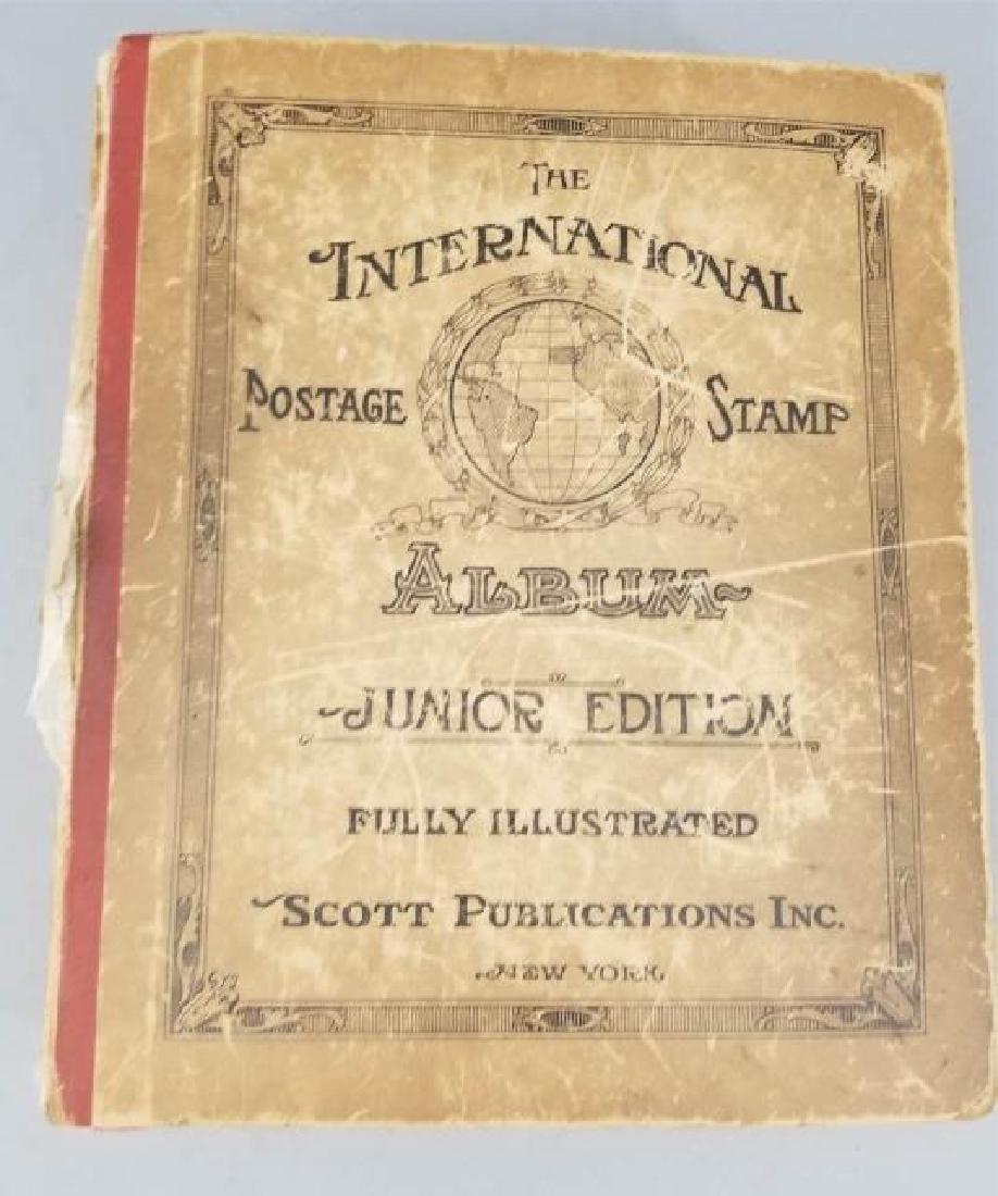 Antique Book - International Postage Stamp Album