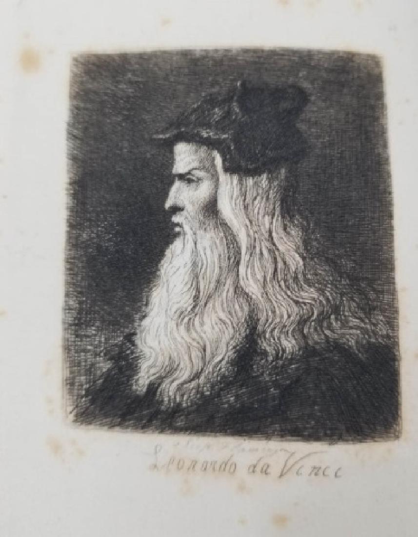 """The Intellectual Life"" Book w Da Vinci Engraving"