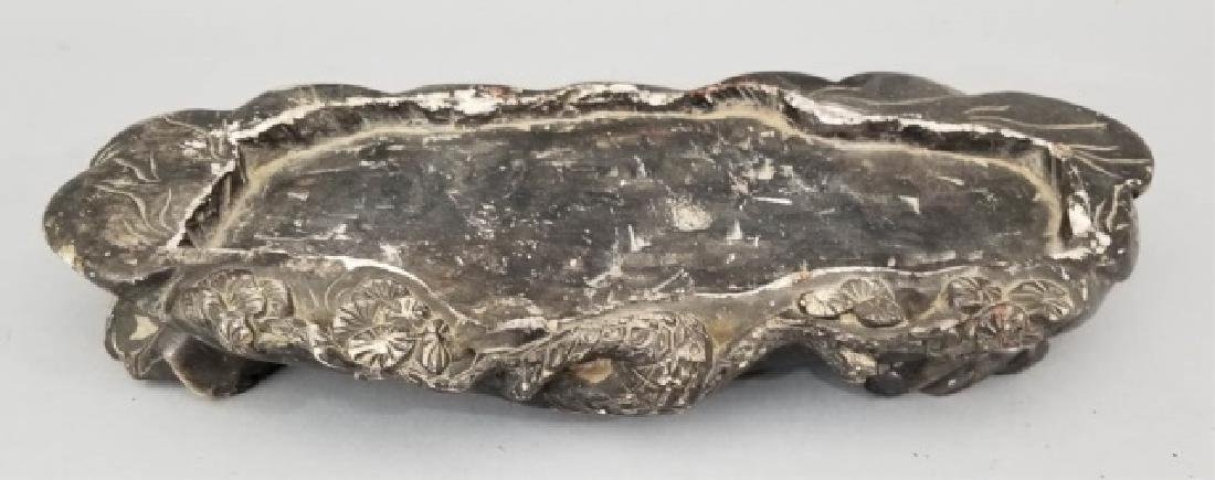 Carved Stone Tray with Chinese Brush Wash