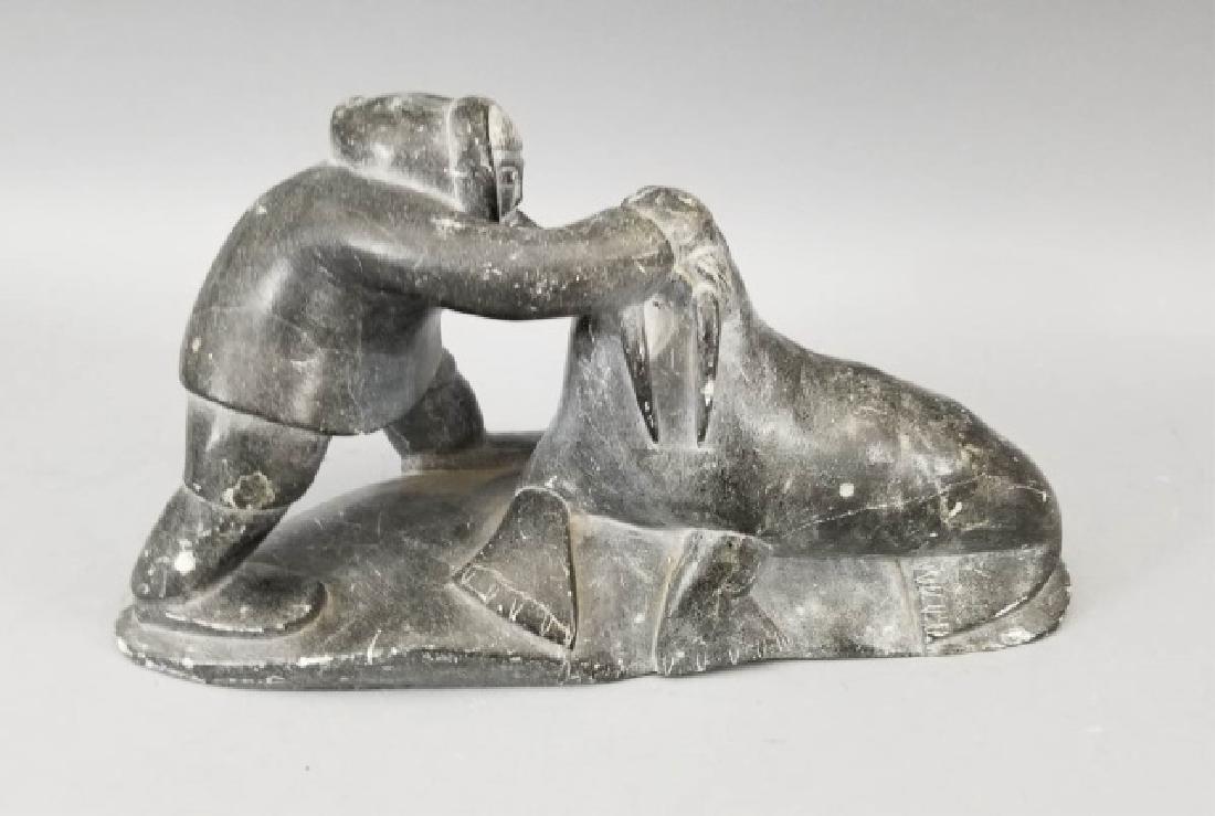 Hallmarked Eskimo Intuit Carved Stone Art