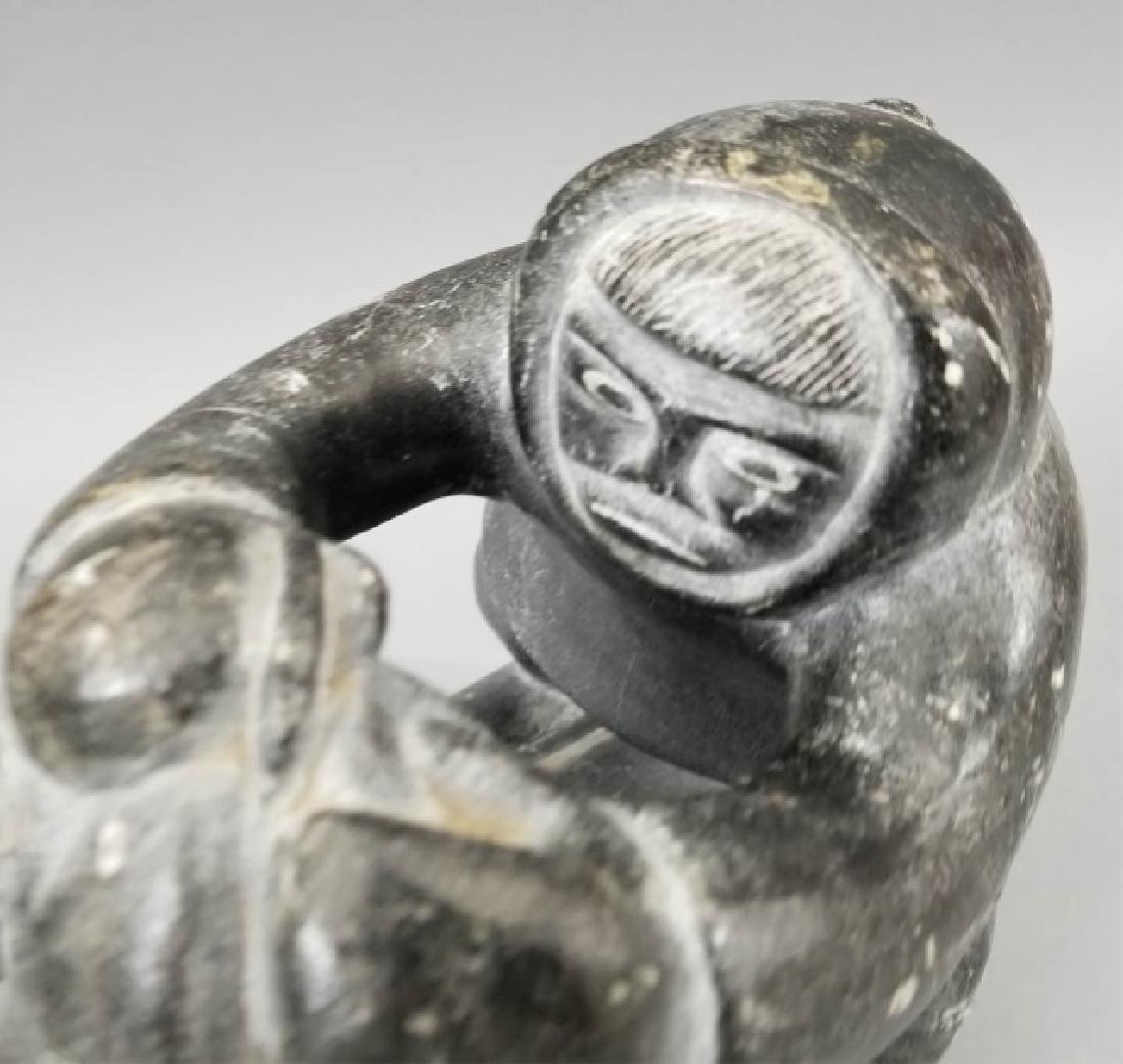 Hallmarked Eskimo Intuit Carved Stone Art - 6