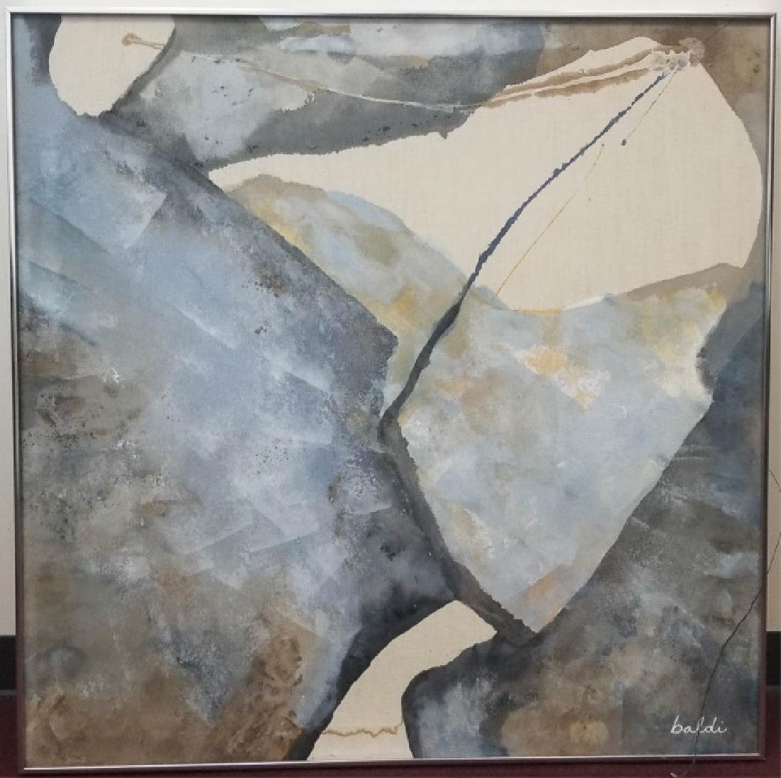 Baldi-Signed Framed Abstract Oil Painting