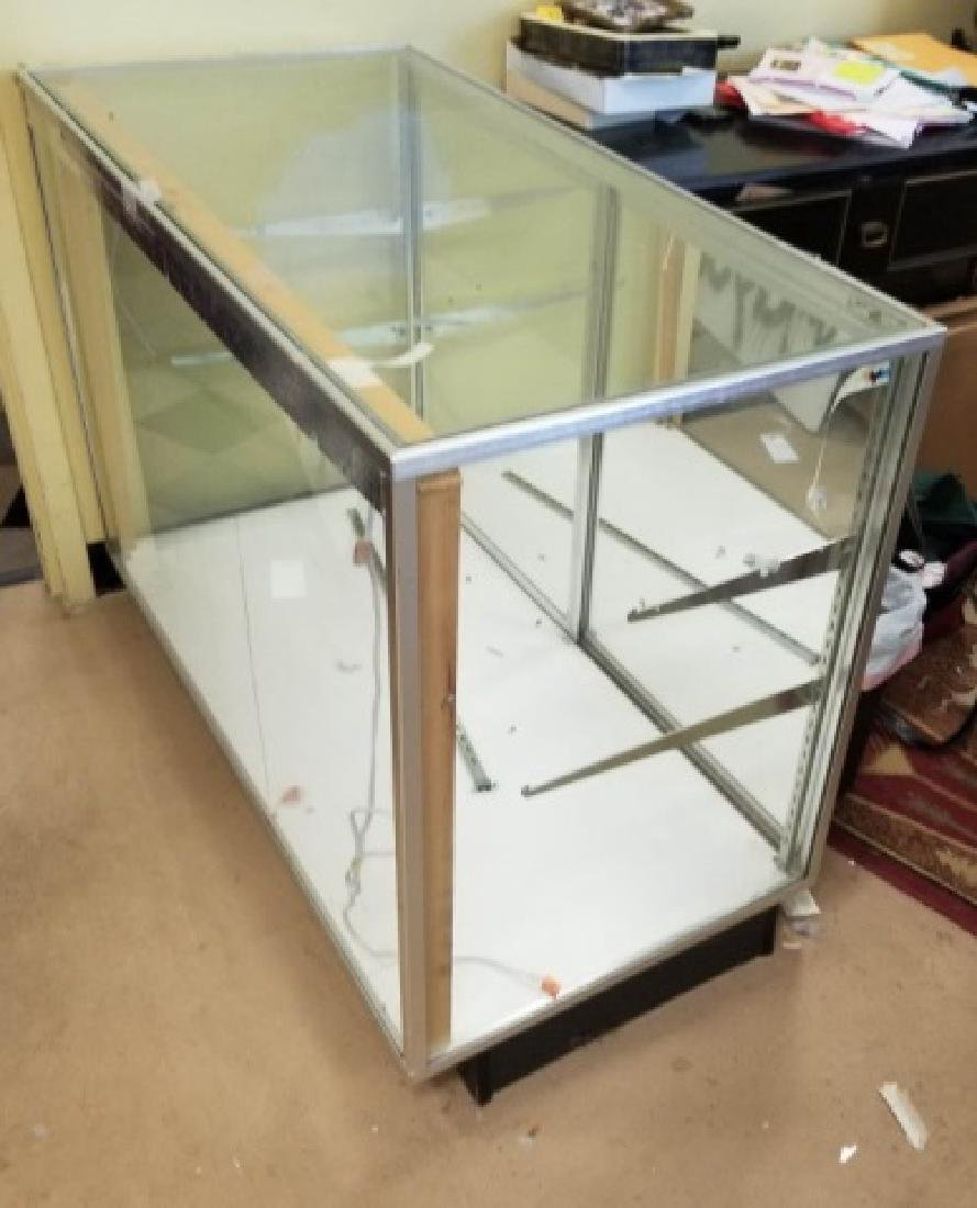Store Counter Height Glass Display Case - 3