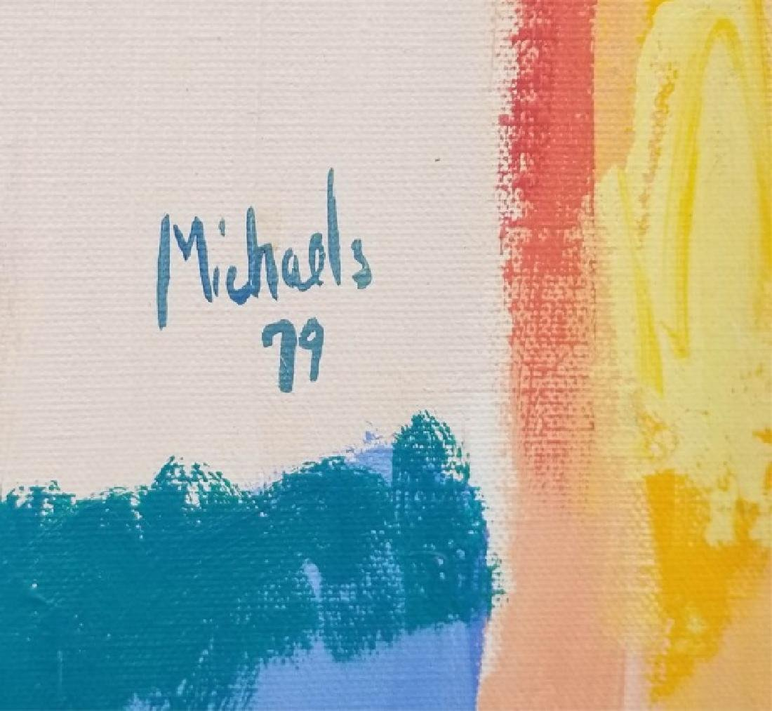 Michaels-Signed Acrylic Abstract on Canvas - 2