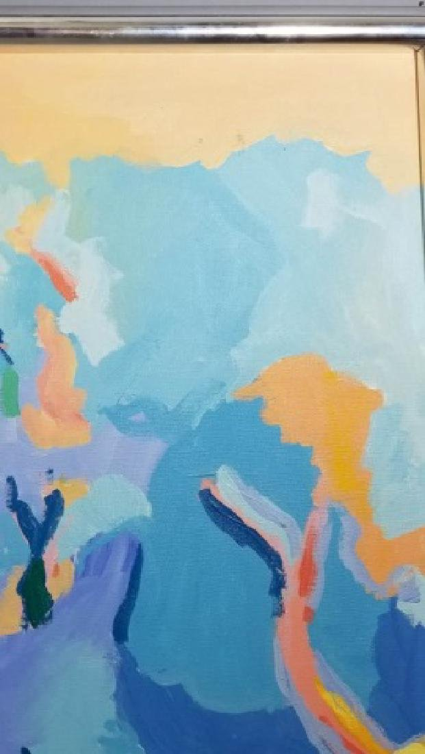 Michaels-Signed Acrylic Abstract on Canvas - 5
