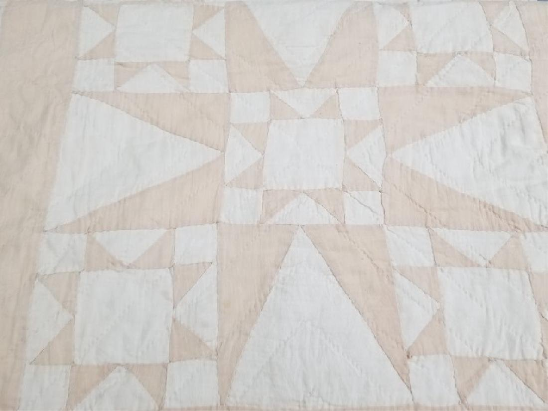 Antique American Hand Sewn Patchwork Quilt 2 of 3