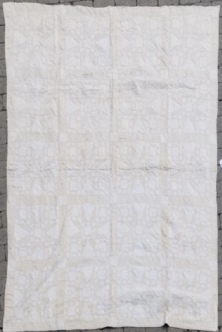 Antique American Hand Sewn Patchwork Quilt 2 of 3 - 2