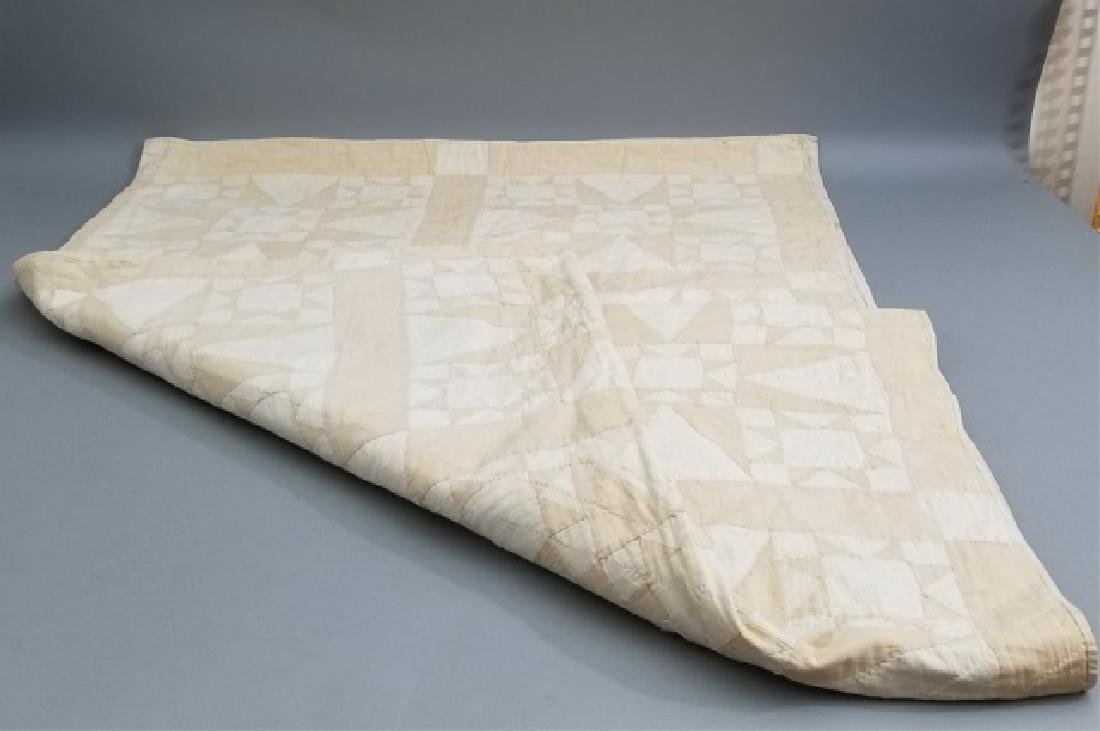 Antique American Hand Sewn Patchwork Quilt 2 of 3 - 3