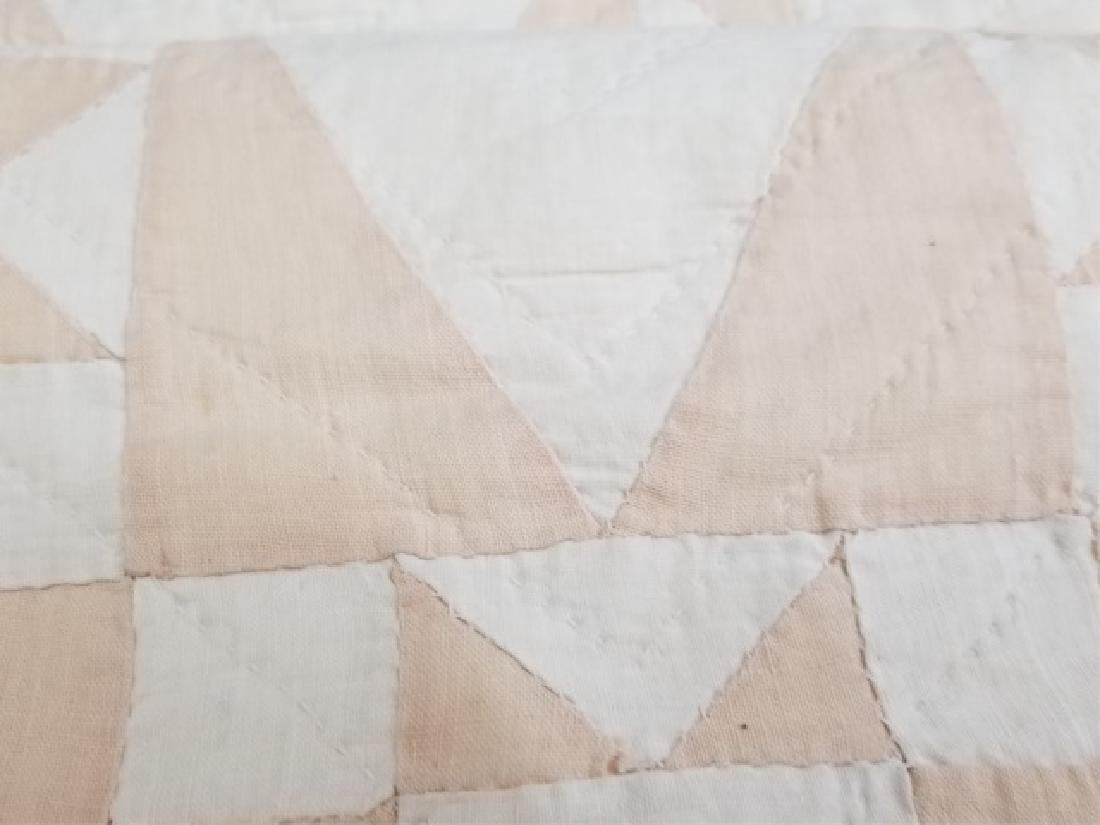 Antique American Hand Sewn Patchwork Quilt 2 of 3 - 6