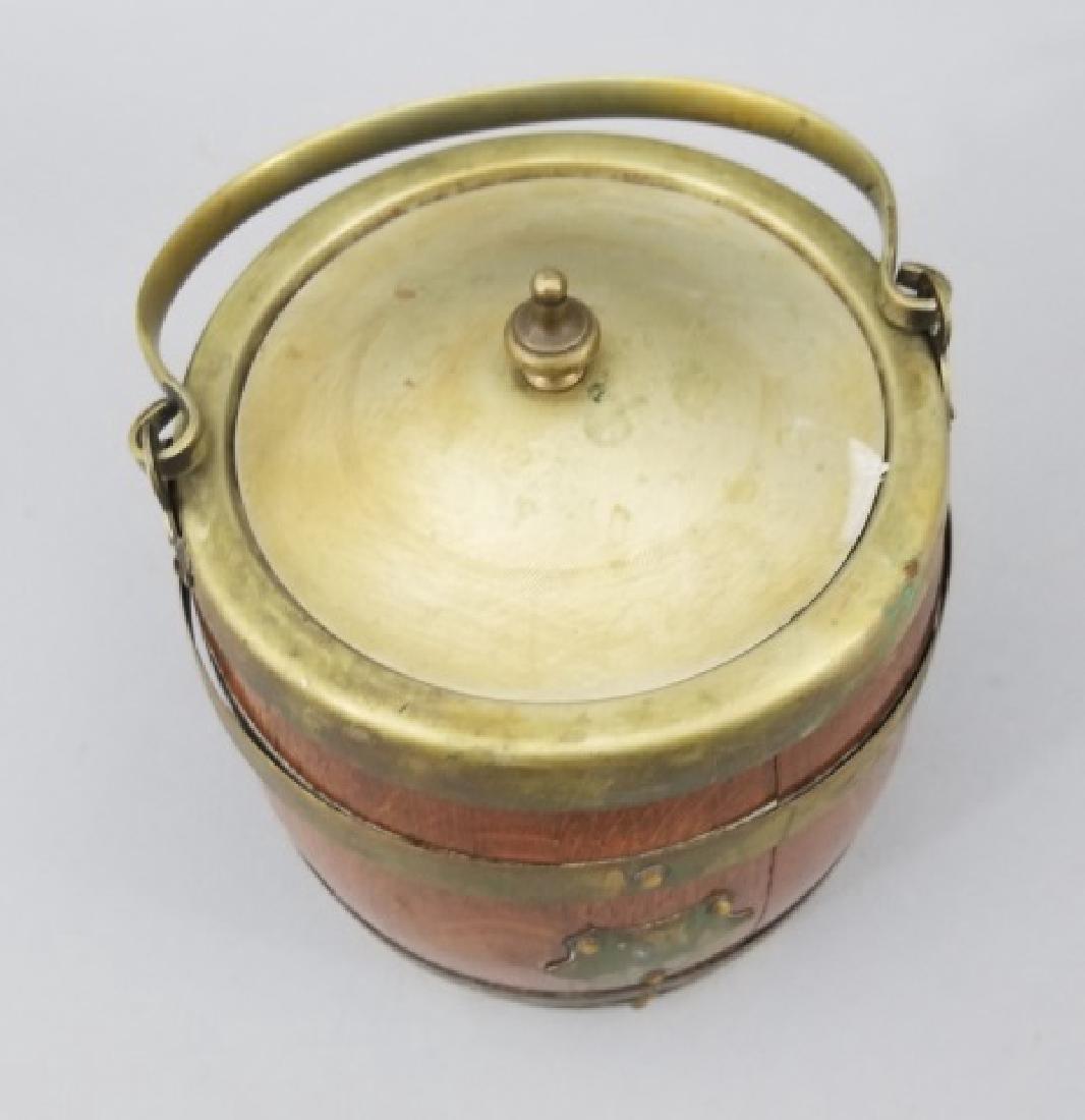 Antique English Barrel Form Biscuit / Cookie Jar - 2