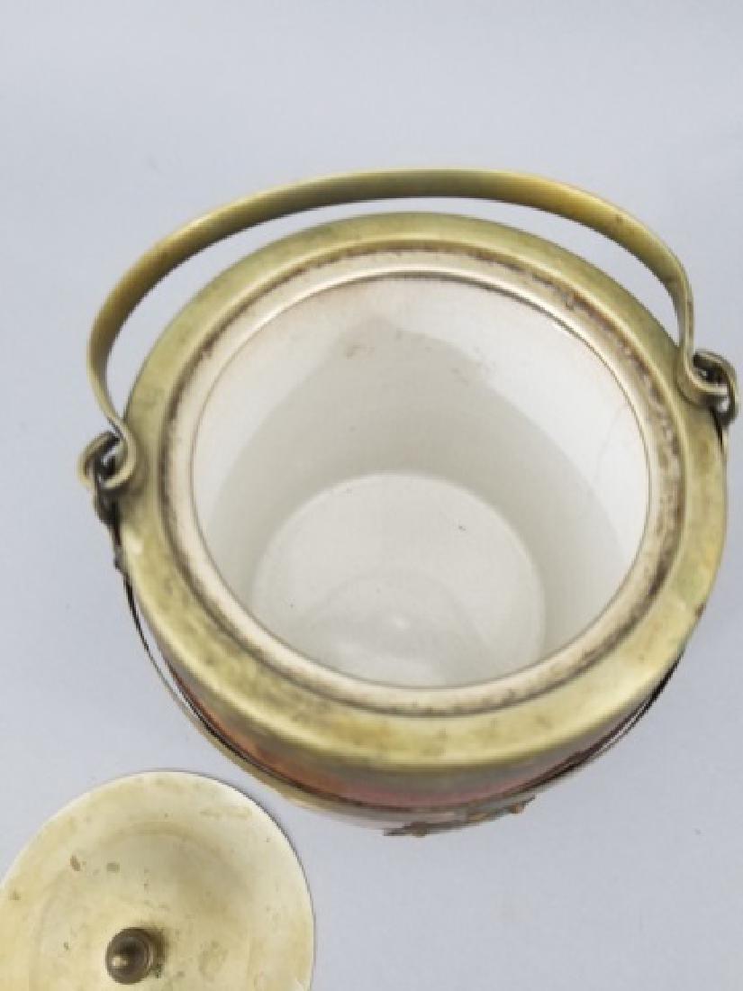 Antique English Barrel Form Biscuit / Cookie Jar - 3