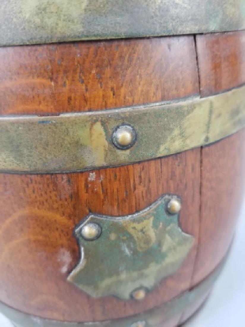 Antique English Barrel Form Biscuit / Cookie Jar - 5