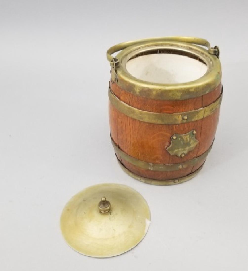 Antique English Barrel Form Biscuit / Cookie Jar - 6