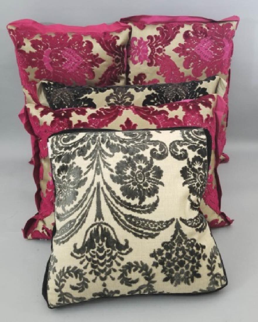 5 Designer's Guild of London Cut Velvet Pillows