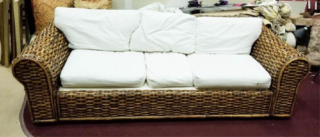 Ralph Lauren Peel Collection Rattan 3-Seat Sofa
