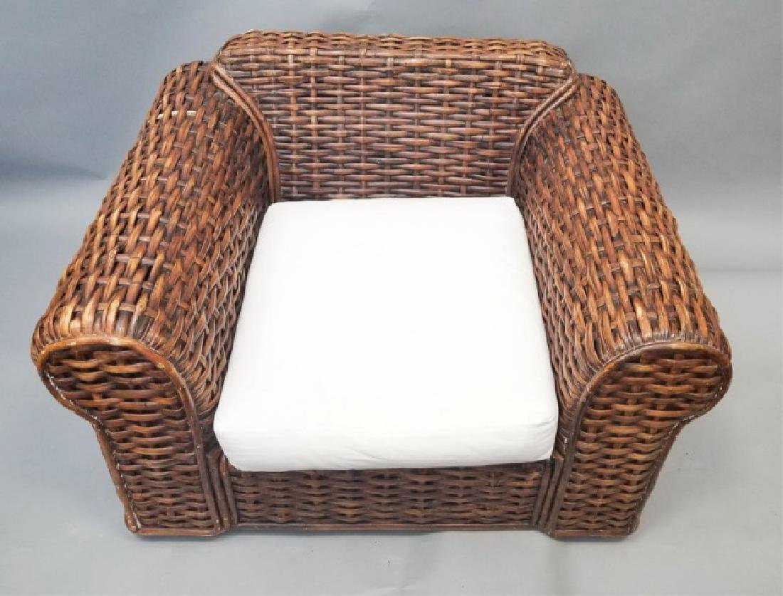 Ralph Lauren Peel Collection Rattan Chair Ottoman