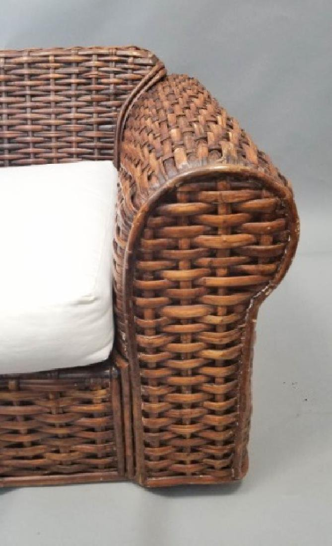 Ralph Lauren Peel Collection Rattan Chair Ottoman - 4