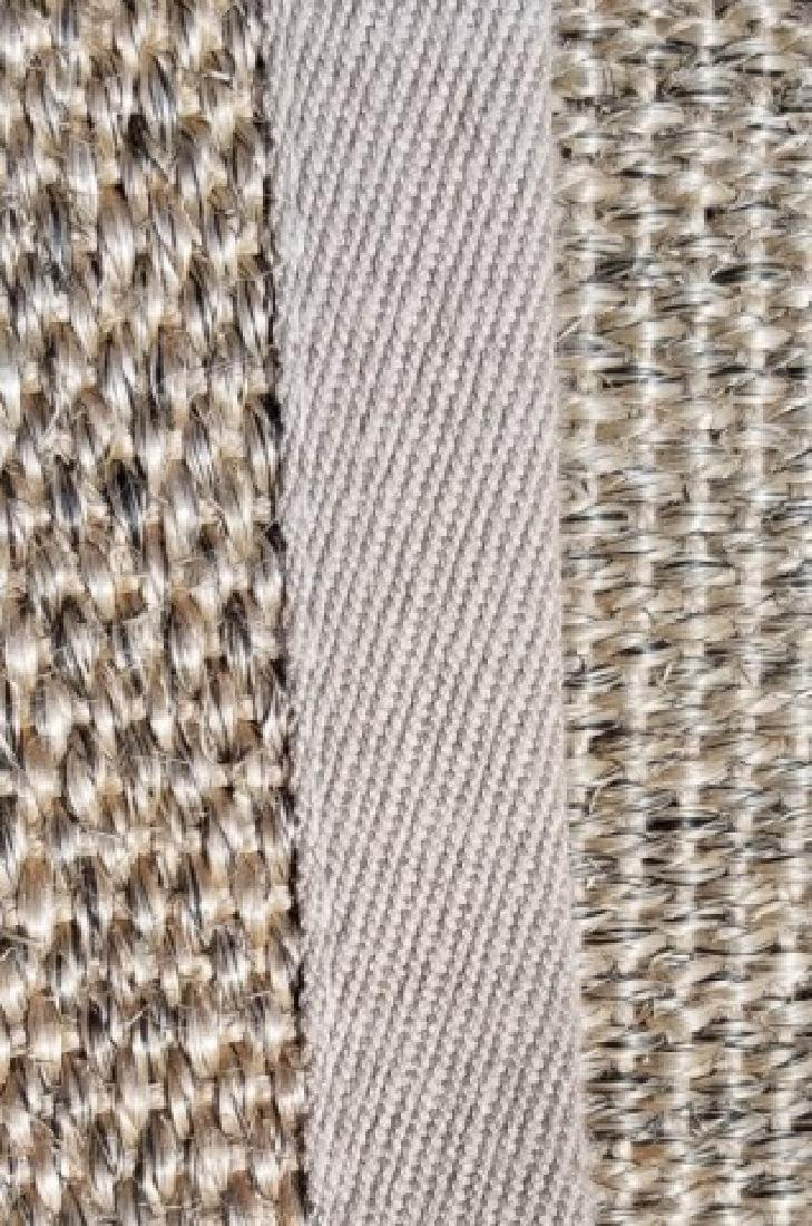 Woven Jute Canvas Edged Rug in Neutral Cocoa - 2