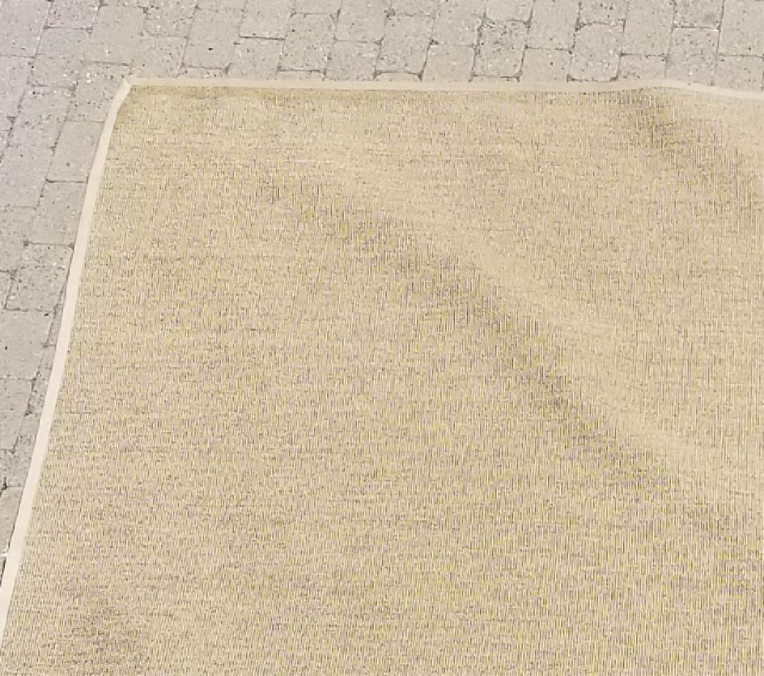 Woven Jute Canvas Edged Rug in Neutral Cocoa - 3