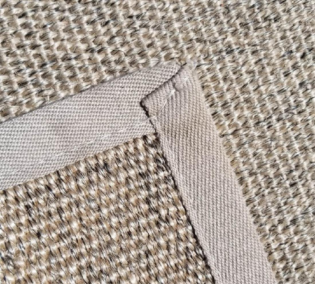 Woven Jute Canvas Edged Rug in Neutral Cocoa - 6