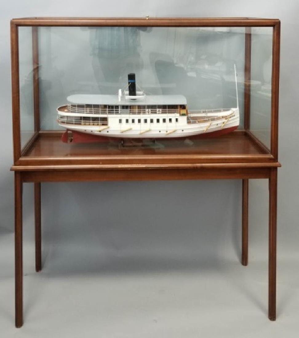 Ship's Model MarieFred w Custom Glass & Wood Case