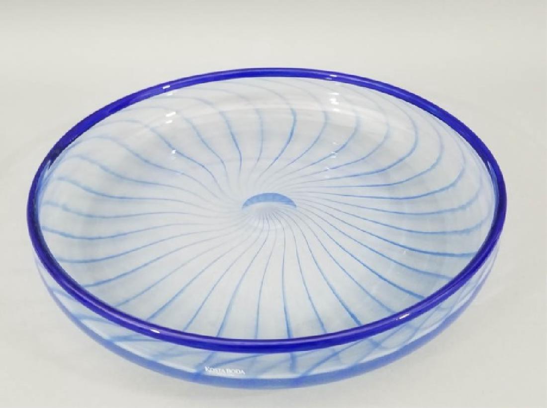 2 Kosta Boda Art Glass Signed Table Items Platter - 5
