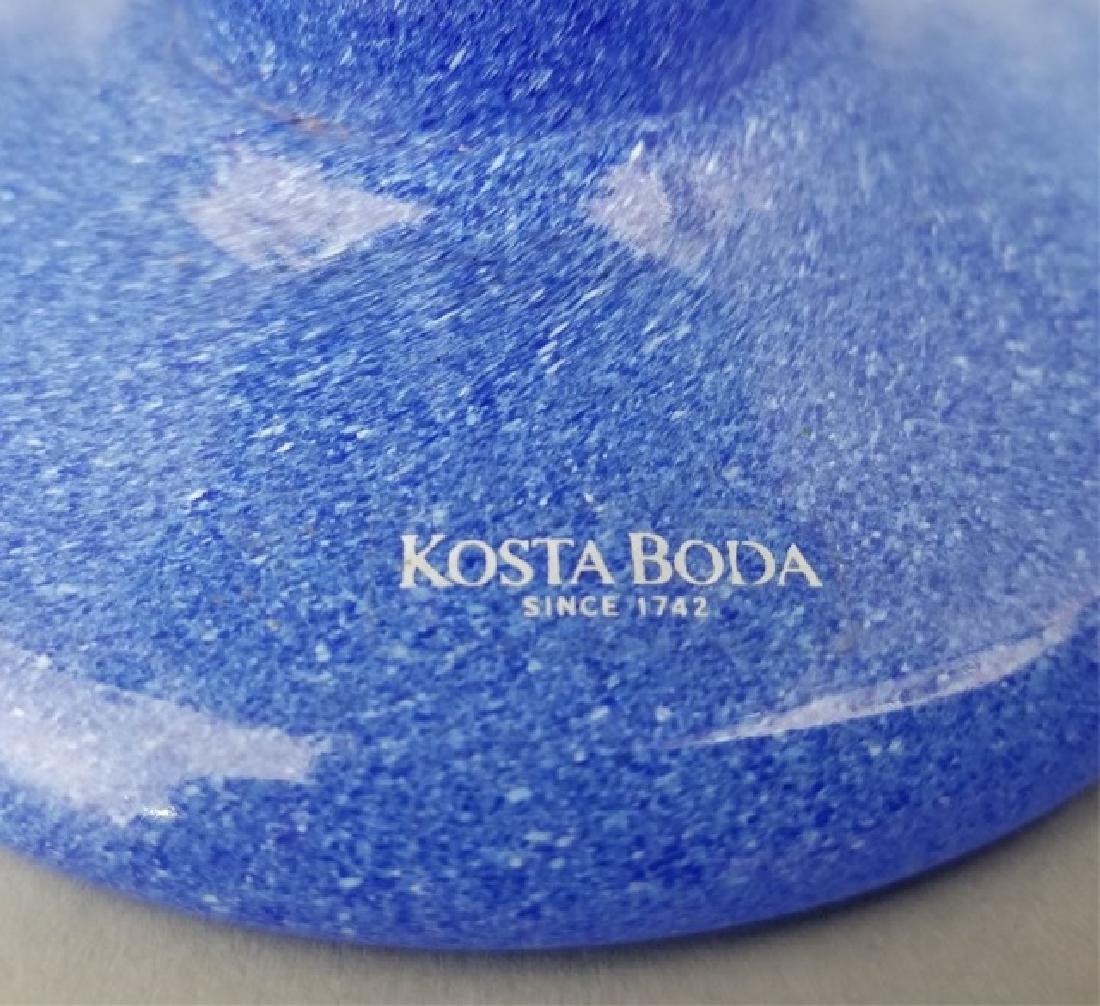 2 Kosta Boda Art Glass Signed Table Items Platter - 6