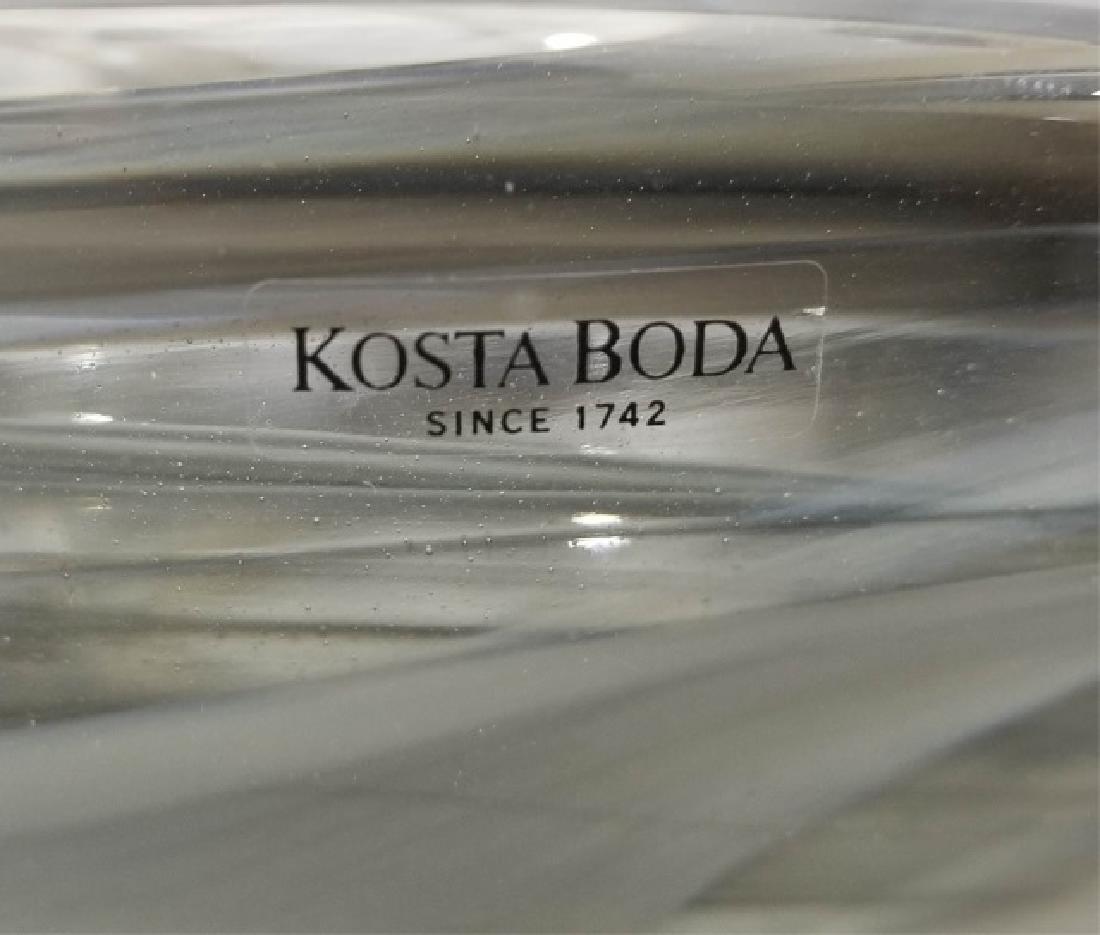 2 Kosta Boda Art Glass Table Items w Vase & Bowl - 2