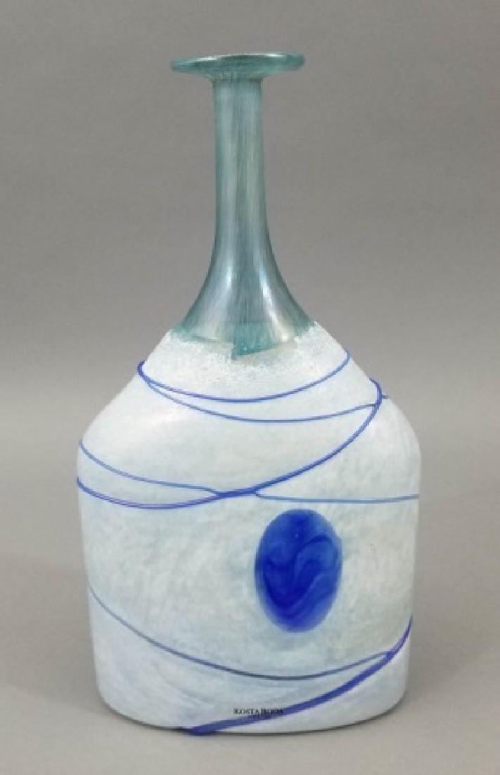 2 Kosta Boda Art Glass Table Items w Vase & Bowl - 3