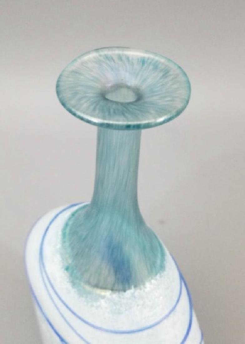 2 Kosta Boda Art Glass Table Items w Vase & Bowl - 5