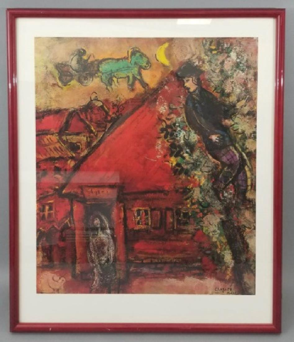 Red-Framed Marc Chagall Print - The Red House